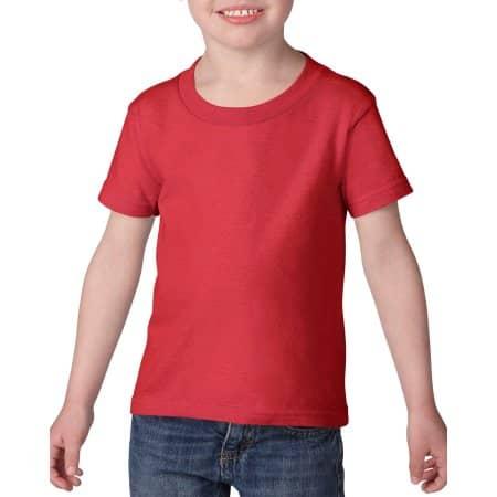 Heavy Cotton™ Toddler T-Shirt in Red von Gildan (Artnum: G5100P