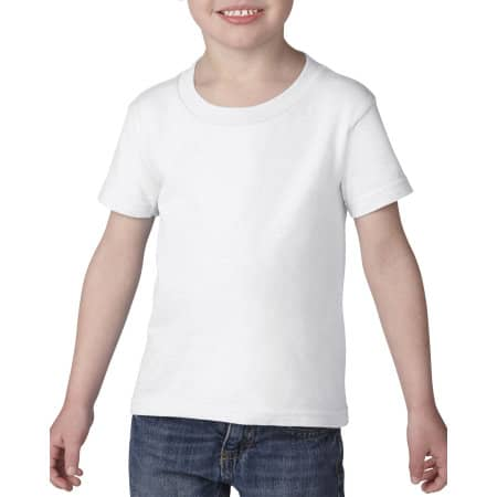 Heavy Cotton™ Toddler T-Shirt in White von Gildan (Artnum: G5100P