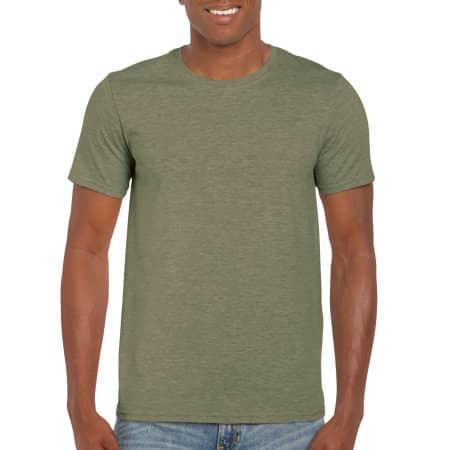 Softstyle® T- Shirt in Heather Military Green von Gildan (Artnum: G64000