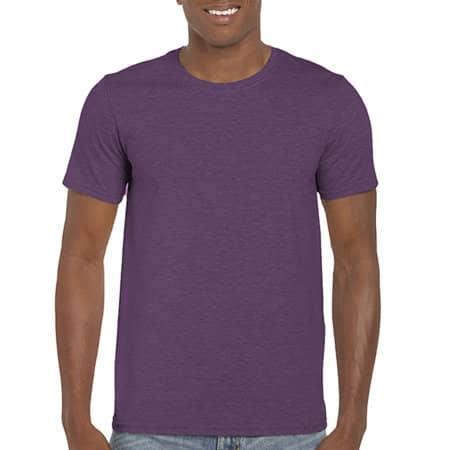 Softstyle® T- Shirt in Heather Purple von Gildan (Artnum: G64000