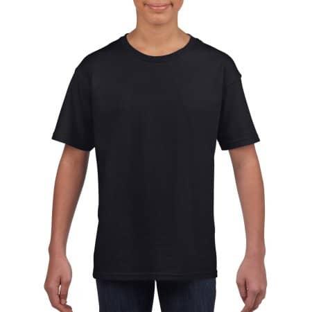 Softstyle® Youth T-Shirt in Black von Gildan (Artnum: G64000K