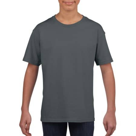 Softstyle® Youth T-Shirt in Charcoal (Solid) von Gildan (Artnum: G64000K