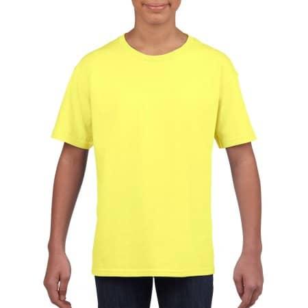 Softstyle® Youth T-Shirt in Cornsilk von Gildan (Artnum: G64000K