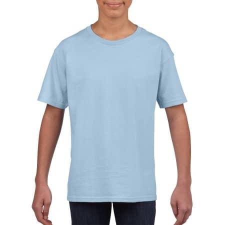 Softstyle® Youth T-Shirt in Light Blue von Gildan (Artnum: G64000K
