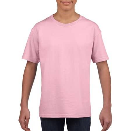 Softstyle® Youth T-Shirt in Light Pink von Gildan (Artnum: G64000K