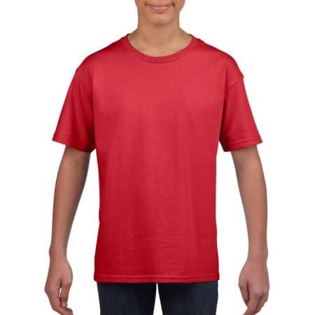 Softstyle® Youth T-Shirt in Red von Gildan (Artnum: G64000K