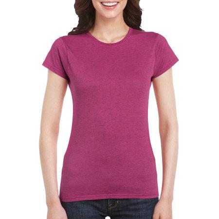 Softstyle® Ladies` T- Shirt in Antique Heliconia (Heather) von Gildan (Artnum: G64000L
