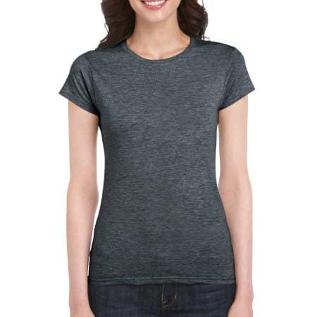 Softstyle® Ladies` T- Shirt in Dark Heather von Gildan (Artnum: G64000L