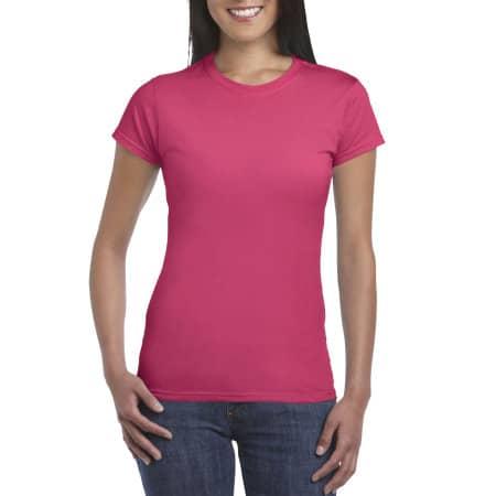 Softstyle® Ladies` T- Shirt in Heliconia von Gildan (Artnum: G64000L