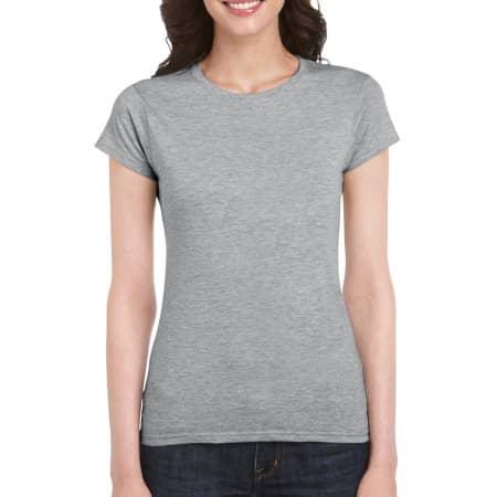 Softstyle® Ladies` T- Shirt in Sport Grey (Heather) von Gildan (Artnum: G64000L