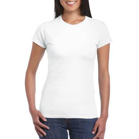 Softstyle® Ladies` T- Shirt in White von Gildan (Artnum: G64000L