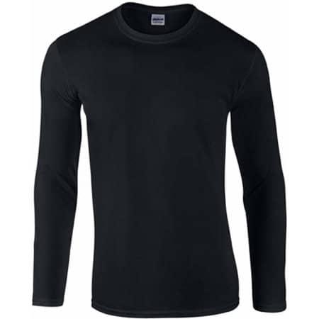 Softstyle® Long Sleeve T-Shirt in Black von Gildan (Artnum: G64400