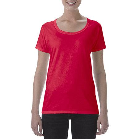 Softstyle® Ladies` Deep Scoop T-Shirt von Gildan (Artnum: G64550L