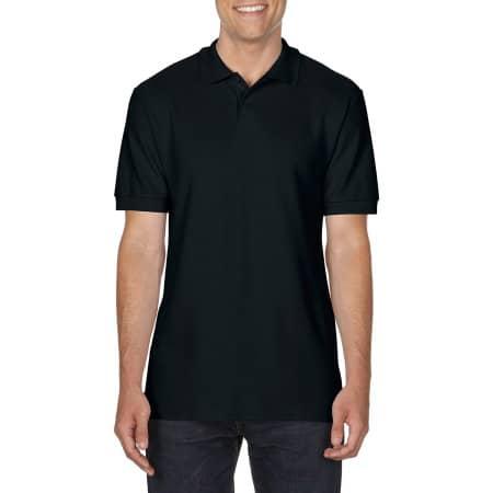Gildan Softstyle® Double Piqué Polo in Black von Gildan (Artnum: G64800