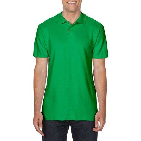 Gildan Softstyle® Double Piqué Polo in Irish Green von Gildan (Artnum: G64800