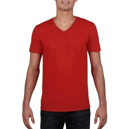 Softstyle® V-Neck T-Shirt von Gildan (Artnum: G64V00