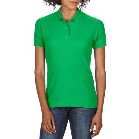 DryBlend® Ladies` Double Piqué Polo in Irish Green von Gildan (Artnum: G75800L