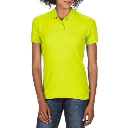 DryBlend® Ladies` Double Piqué Polo in Safety Green von Gildan (Artnum: G75800L