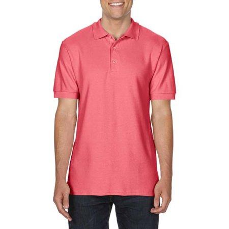 Premium Cotton® Double Piqué Polo in Coral Silk von Gildan (Artnum: G85800