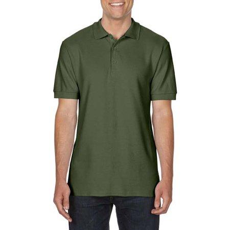 Premium Cotton® Double Piqué Polo in Military Green von Gildan (Artnum: G85800