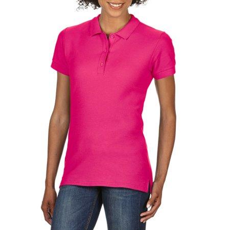 Premium Cotton® Ladies` Double Piqué Polo in Heliconia von Gildan (Artnum: G85800L