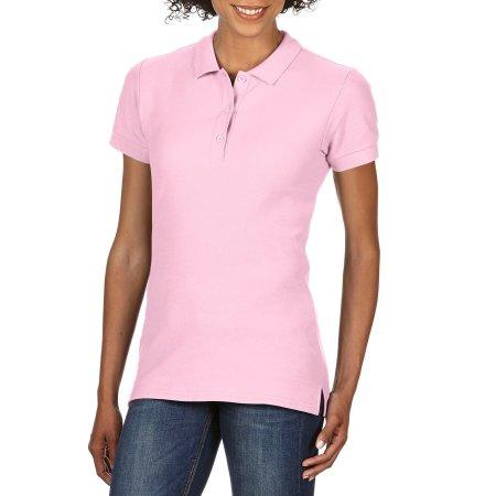 Premium Cotton® Ladies` Double Piqué Polo in Light Pink von Gildan (Artnum: G85800L