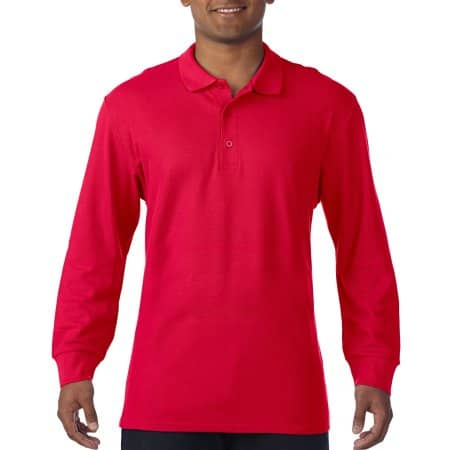 Premium Cotton® Long Sleeve Double Piqué Polo von Gildan (Artnum: G85900