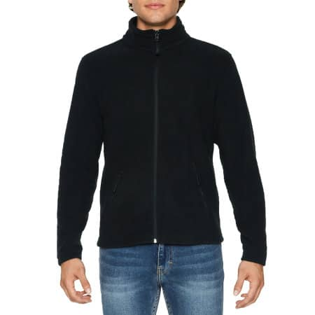 Hammer Unisex Micro-Fleece Jacket in Black von Gildan (Artnum: GPF800