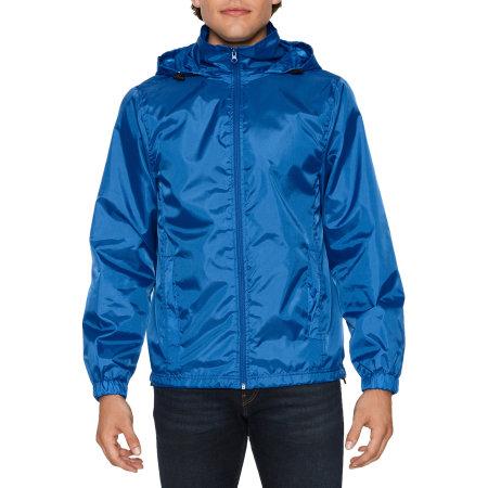Hammer Unisex Windwear Jacket in Royal von Gildan (Artnum: GWR800