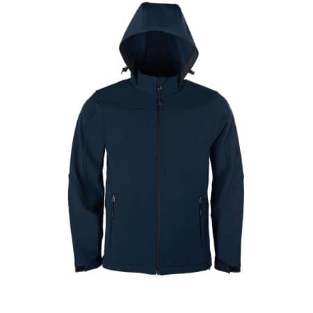 Men´s Hooded Soft-Shell Jacket von HRM (Artnum: HRM1101