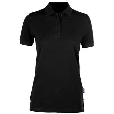 Women´s Heavy Polo in Black von HRM (Artnum: HRM401