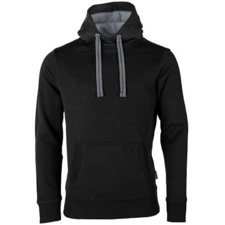 Unisex Sweat Hoody in Black von HRM (Artnum: HRM900