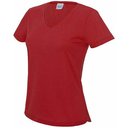 V Neck Girlie Cool T in Fire Red von Just Cool (Artnum: JC006