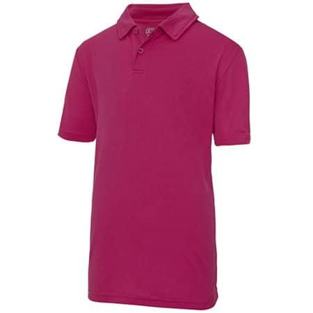 Kids` Cool Polo in Hot Pink von Just Cool (Artnum: JC040J