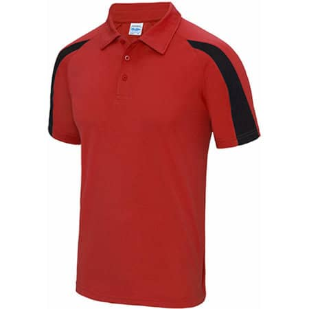 Contrast Cool Polo in Fire Red|Jet Black von Just Cool (Artnum: JC043