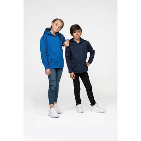 Kids Sports Polyester Hoodie von Just Hoods (Artnum: JH006K