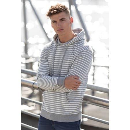 Nautical Stripe Hoodie von Just Hoods (Artnum: JH018