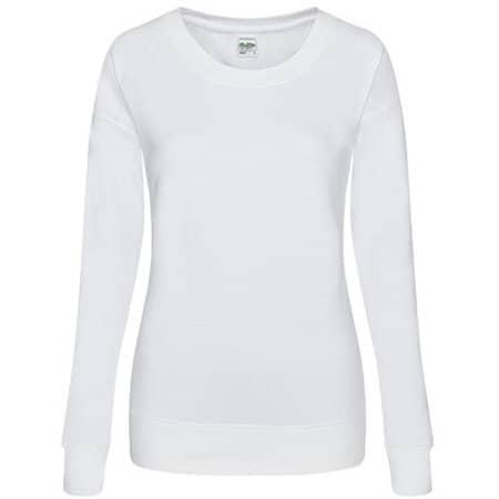 Girlie Fashion Sweat in Arctic White von Just Hoods (Artnum: JH036