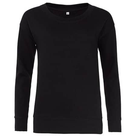 Girlie Fashion Sweat in Jet Black von Just Hoods (Artnum: JH036