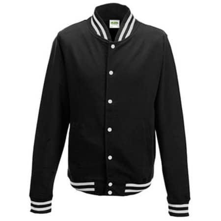 College Jacket in Jet Black von Just Hoods (Artnum: JH041