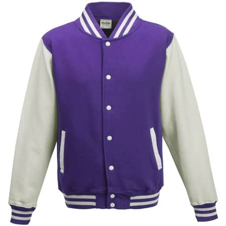 Kids` Varsity Jacket von Just Hoods (Artnum: JH043K