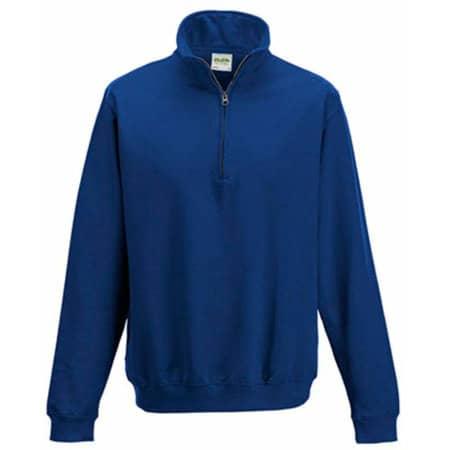 Sophomore 1/4 Zip Sweat in Royal Blue von Just Hoods (Artnum: JH046