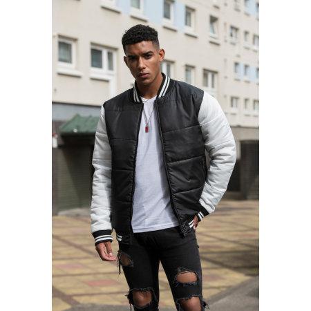 Varsity Puffer Jacket von Just Hoods (Artnum: JH049