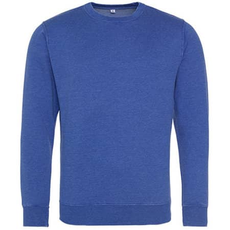 Washed Sweat in Washed Royal Blue von Just Hoods (Artnum: JH093
