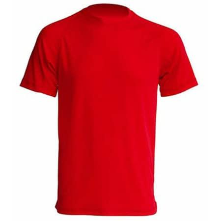 Sport T-Shirt Men in Red von JHK (Artnum: JHK100