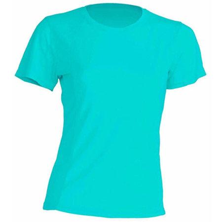Sport T-Shirt Lady in Turquoise von JHK (Artnum: JHK101