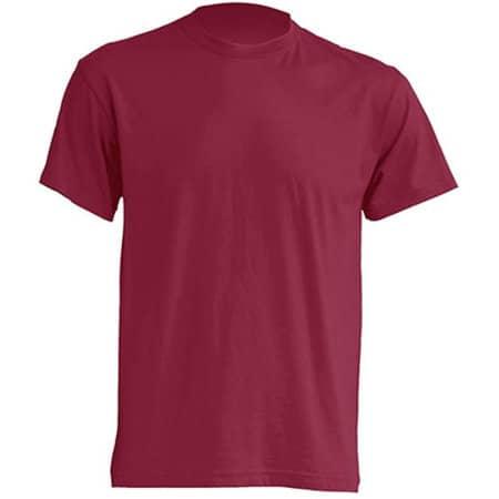 Regular T-Shirt in Burgundy von JHK (Artnum: JHK150
