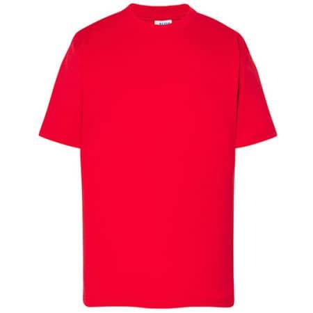 Kids` T-Shirt in Red von JHK (Artnum: JHK150K