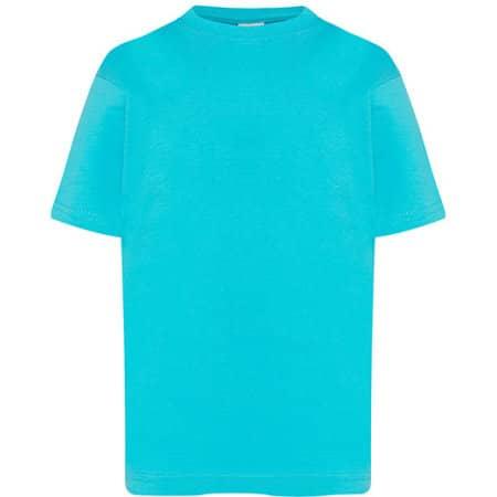 Kids` T-Shirt in Turquoise von JHK (Artnum: JHK150K