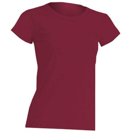 Regular Lady Comfort T-Shirt in Burgundy von JHK (Artnum: JHK152